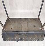 Мангал Вогник розкладний у валізу 3мм з ніжками на 10 шампурів ХВЗ, фото 5