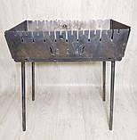 Мангал Вогник розкладний у валізу 3мм з ніжками на 10 шампурів ХВЗ, фото 2