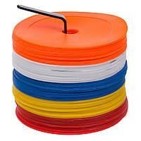 Набор плоских кругов-маркеров для разметки (50шт) (PE, d-16см, на подставке) PZ-FB-7098-50