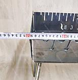 Мангал 3 мм на Вогник розкладний в валізу з чохлом і шампурами з дерев'яною ручкою 10 шт, фото 7