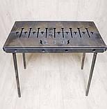 Мангал 3 мм на Вогник розкладний в валізу з чохлом і шампурами з дерев'яною ручкою 10 шт, фото 3