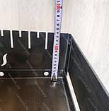 Мангал 3 мм на Вогник розкладний в валізу з чохлом і шампурами з дерев'яною ручкою 10 шт, фото 8