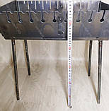 Мангал 3 мм на Вогник розкладний в валізу з чохлом і шампурами з дерев'яною ручкою 10 шт, фото 9