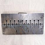 Мангал Вогник розкладний у валізу 3 мм з шампурами 10 шт ХВЗ, фото 4