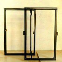 Ревизионный люк потайной нажимной под плитку 500х400 мм (ШхВ) Харьков (Дверца нажимная под плитку, мозаику)