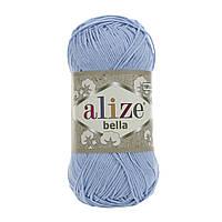 Турецкая пряжа 100% хлопок Белла, alize bella голубого цвета 40