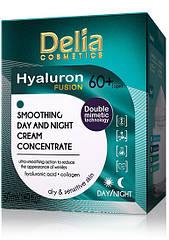 Крем для лица Delia Cosmetics HYALURON Fusion 60+ гиалуроновый заполняющий морщины 50 мл