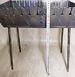 Мангал Вогник розкладний у валізу 3мм з ніжками на 10 шампурів ХВЗ, фото 7