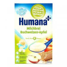 Молочная каша Humana гречневая с яблоком 200 гр.