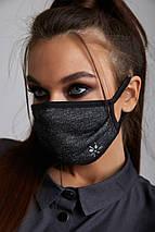 Вискозная трикотажная многоразовая маска для лица (6 svt), фото 3