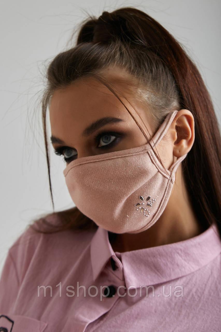 Вискозная трикотажная многоразовая маска для лица (6 svt)