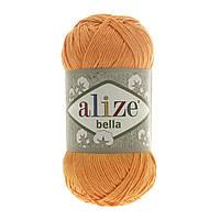 Турецкая пряжа 100% хлопок Белла, alize bella тыквенного цвета 83