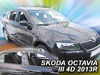 Дефлекторы окон (вставные!) ветровики Skoda Octavia A7 2013-2020 4шт. liftback, HEKO, 28339