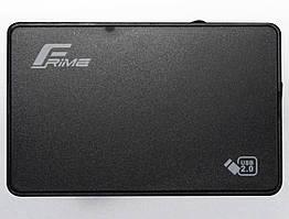 "Внешний карман Frime SATA HDD/SSD 2.5"", USB 2.0, Plastic, Black (FHE10.25U20)"