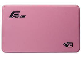 "Внешний карман Frime SATA HDD/SSD 2.5"", USB 2.0, Plastic, Pink (FHE12.25U20)"
