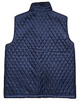 Плащевая жилетка на овчине Синяя Размер 58, фото 3