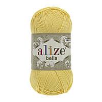 Турецкая пряжа 100% хлопок Белла, alize bella лимонного цвета 110