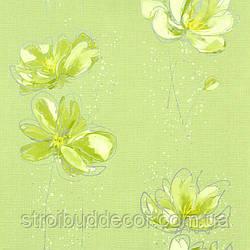 Щільні паперові шпалери 0,53*10,05 Еко зелений квітка
