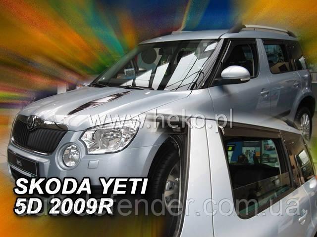 Дефлекторы окон (вставные!) ветровики Skoda Yeti 2009-2019 4шт., HEKO, 28334
