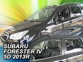 Дефлекторы окон (вставные!) ветровики Subaru Forester IV 2013-2018 4шт., HEKO, 28518