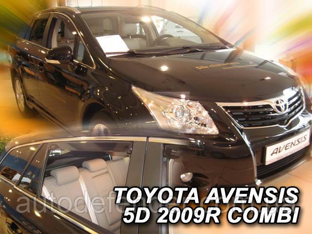 Дефлекторы окон (вставные!) ветровики Toyota Avensis 2009-2016 5D 4шт. Combi, HEKO, 29610