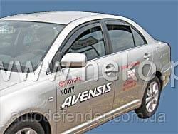 Дефлектори вікон (вітровики) Toyota Avensis 2003-2009 4D / вставні, 4шт/ Sedan, HEKO, 29353