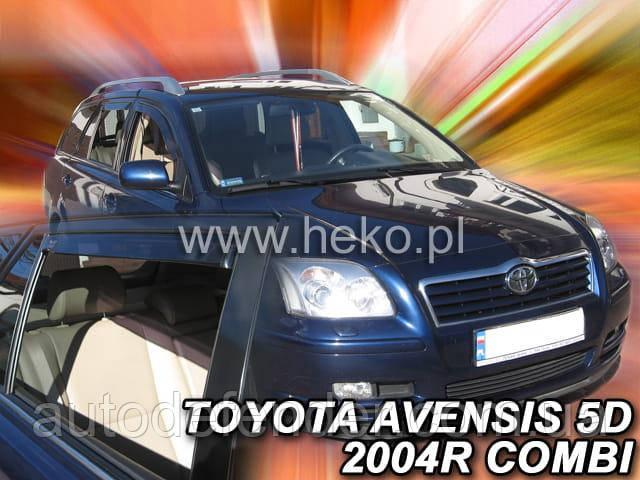 Дефлектори вікон (вставні!) вітровики Toyota Avensis 2003-2009 5D 4шт. Combi, HEKO, 29363