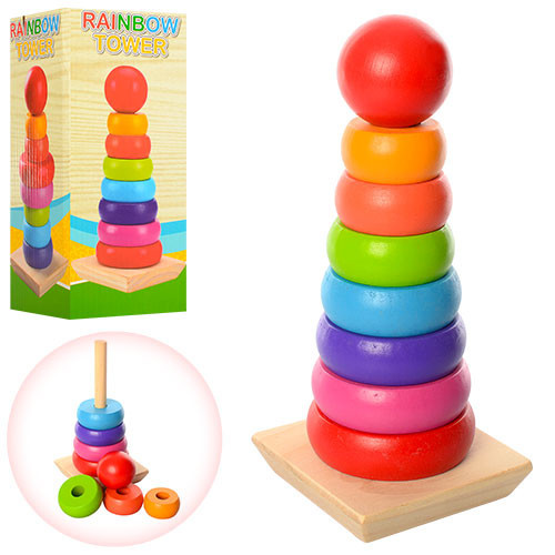 Деревянная игрушка Пирамидка MD 1215, Оригинал