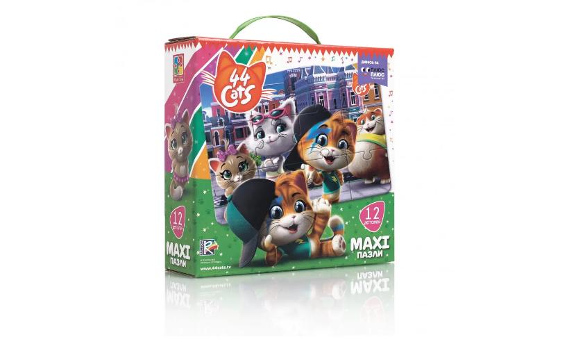 """Игра настольная """"Макси пазлы. 44 Cats"""" VT1722-02, Оригинал"""