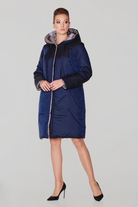 Женское зимнее плащевое пальто Elvi  С 109