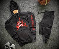 Спортивный костюм мужской Nike AIR  x black / осенний весенний Найк ТОП качества