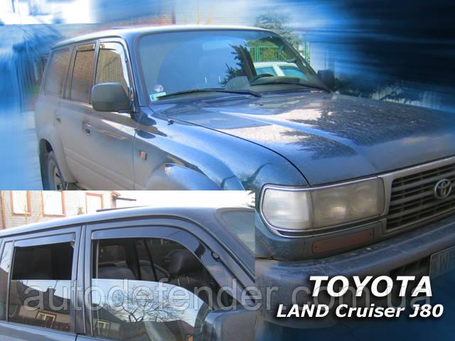 Дефлектори вікон (вставні!) вітровики Toyota Land Cruiser 80 1990-1998 4D 4шт., HEKO, 29384