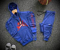 Спортивный костюм мужской Nike AIR  x blue / осенний весенний Найк ТОП качества