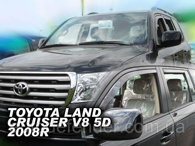 Дефлекторы окон (вставные!) ветровики Toyota Land Cruiser 200 2007-2021 4шт., HEKO, 29602