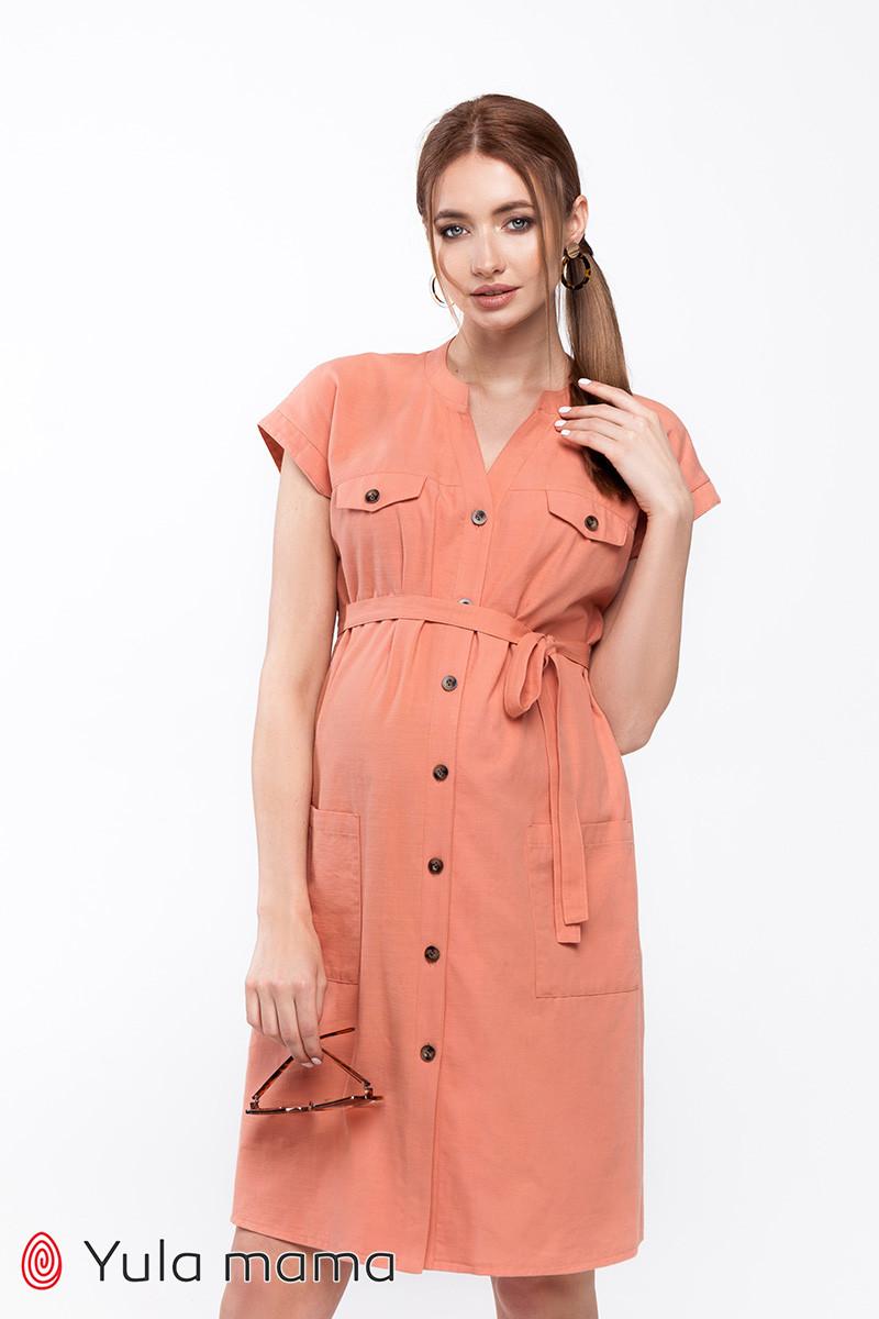 Платье-рубашка для беременных и кормящих в сафари-стиле IVY DR-20.021
