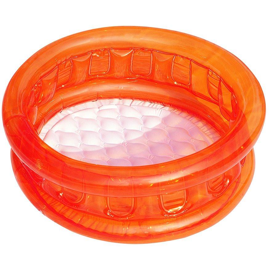 BW Бассейн 51112 ( 51112(Orange) Оранжевый детский, круглый, надувное дно, в кор-ке, 64-25см), Оригинал