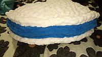 Подушка ручной работы детская Макарун 39 см с плюшевых ниток,против аллергенная,