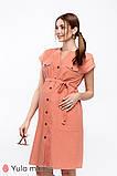 Платье-рубашка для беременных и кормящих в сафари-стиле IVY DR-20.021, фото 6