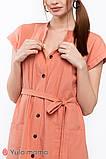Платье-рубашка для беременных и кормящих в сафари-стиле IVY DR-20.021, фото 7