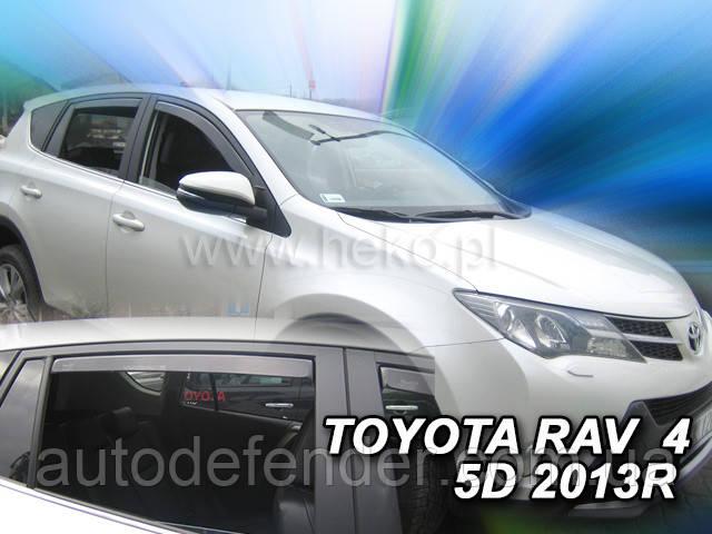 Дефлекторы окон (вставные!) ветровики Toyota RAV-4 2013-2018 4шт., HEKO, 29632