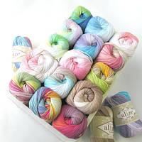 Турецкая пряжа 100% хлопок Белла, alize bella batik все цвета
