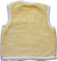 Меховая двойная жилетка из овчины лимонная Размер 56, фото 3