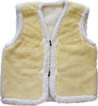 Меховая двойная жилетка из овчины лимонная Размер 58-60, фото 3
