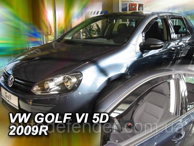 Дефлекторы окон (вставные!) ветровики Volkswagen VW Golf-6 2008-2012 5D hatchback 4шт., HEKO, 31176