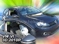 Дефлекторы окон (вставные!) ветровики Volkswagen VW Golf-6 2008-2012 3D 2шт., HEKO, 31180