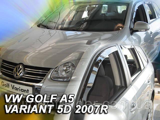 Дефлекторы окон (вставные!) ветровики Volkswagen VW Golf-5 2003-2008 5D 4шт. variant, HEKO, 31169