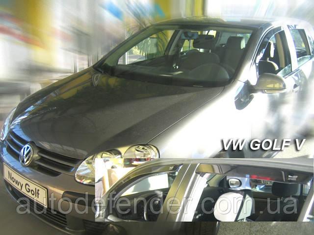 Дефлекторы окон (вставные!) ветровики Volkswagen VW Golf-5 2003-2008 5D hatchback 4шт., HEKO, 31150