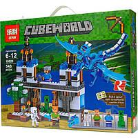 """Конструктор Lepin 18020 Minecraft """"Нападение синего дракона"""" 548 деталей, аналог Lego Minecraft"""
