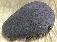 Кепка мужская светло серая шерстяная реглан 57-58 59-60 размер