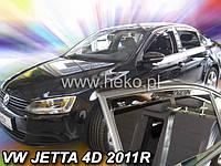 Дефлекторы окон (вставные!) ветровики Volkswagen VW Jetta 6 2011-2019 4шт., HEKO, 31186
